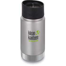 Klean Kanteen Wide Vacuum Insulated Gourde Bouchon Café 2.0 355ml, brushed stainless